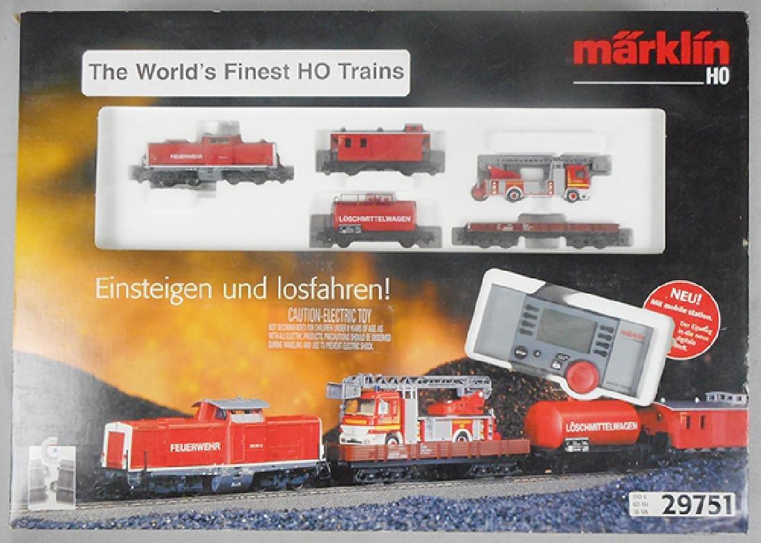 MARKLIN 29751 FIRE DEPARTMENT TRAIN SET