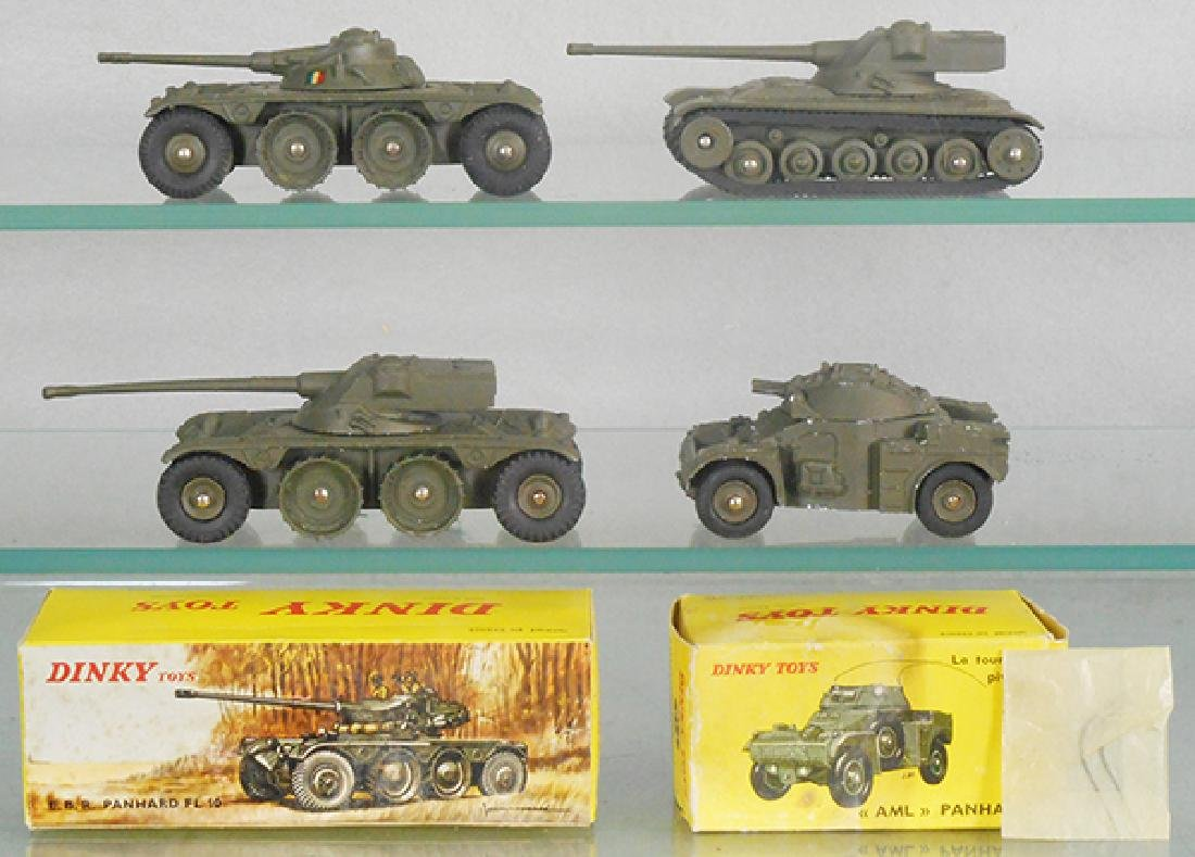 4 FRENCH MILITARY DINKY VEHICLES