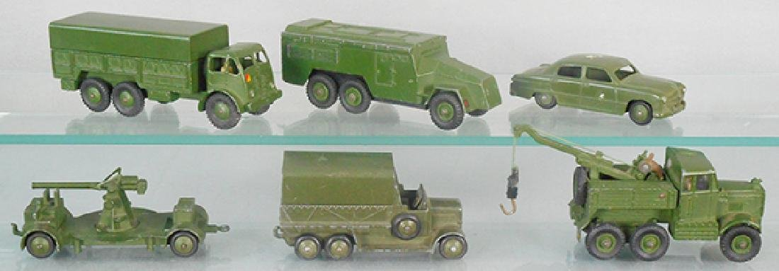6 DINKY MILITARY VEHICLES