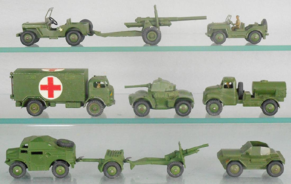 10 DINKY MILITARY VEHICLES