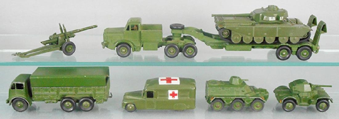 7 DINKY MILITARY VEHICLES
