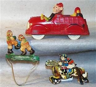 017: SUN RUBBER MICKEY & DONALD FIRE TRUCK