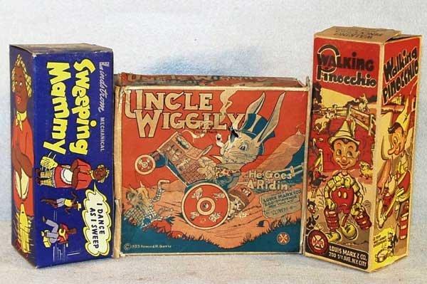 018: 3 ORIGINAL TIN TOY BOXES