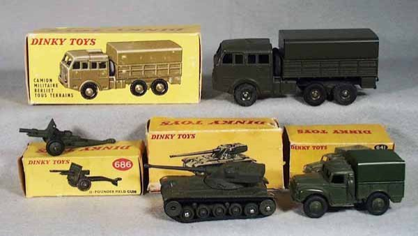 9: 4 DINKY MILITARY VEHICLES