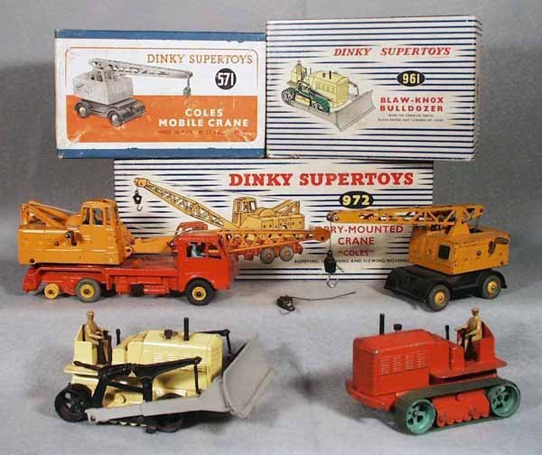 12: 4 DINKY CONSTRUCTION VEHICLES