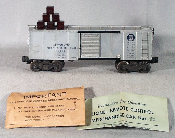 2: LIONEL 3454 OPER AUTOMATIC MERCHANDISE CAR