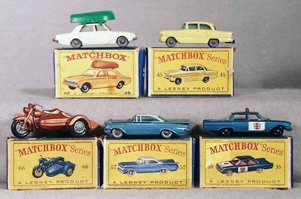 12: 5 MATCHBOX VEHICLES