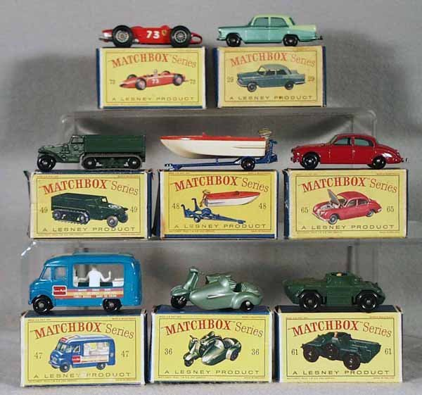 16: 8 MATCHBOX VEHICLES