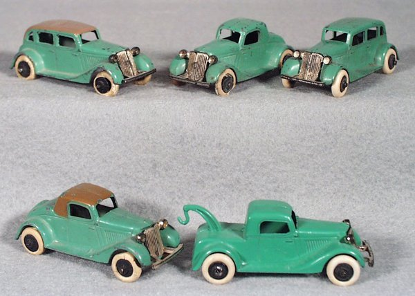 003A: 5 TOOTSIETOY 1934 FORDS