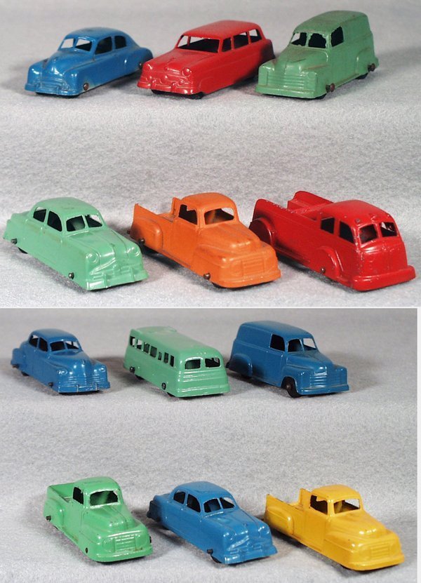 022A: 12 TOOTSIETOY VEHICLES
