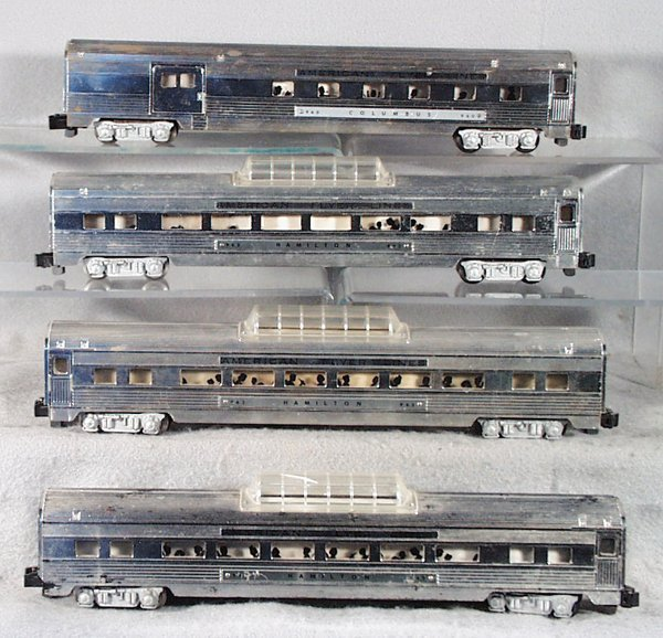 6: 4 AMERICAN FLYER CHROME COACHES