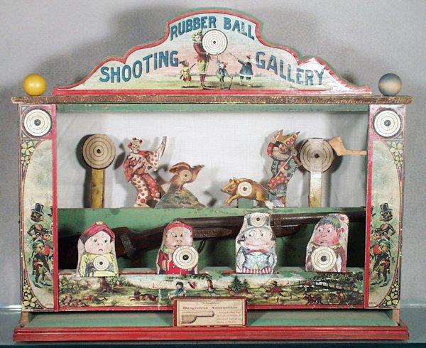 020A: SCHOENHUT RUBBER BALL SHOOTING GALLERY