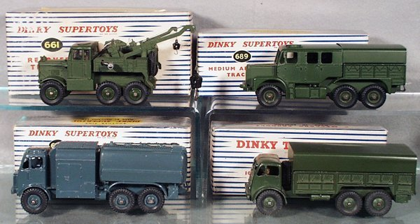 4: 4 DINKY MILITARY VEHICLES