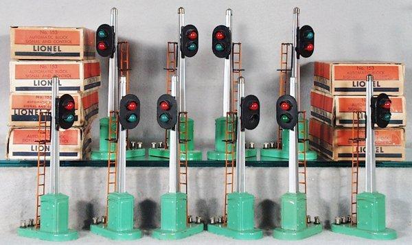 022A: 10 LIONEL 153 AUTOMATIC BLOCK SIGNALS