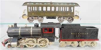 LIONEL TRAIN SET, std ga, #6 loco, 1 frame, thick rim,