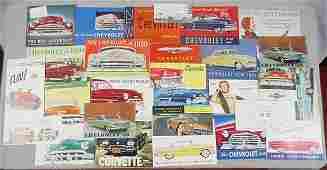 28 CHEVROLET AUTO BROCHURES