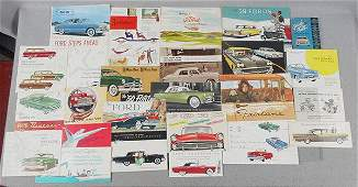 25 FORD AUTO BROCHURES