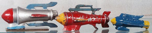 178: 3 BARCLAY BUCK ROGERS SPACE SHIPS