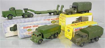 4 DINKY MILITARY VEHICLES
