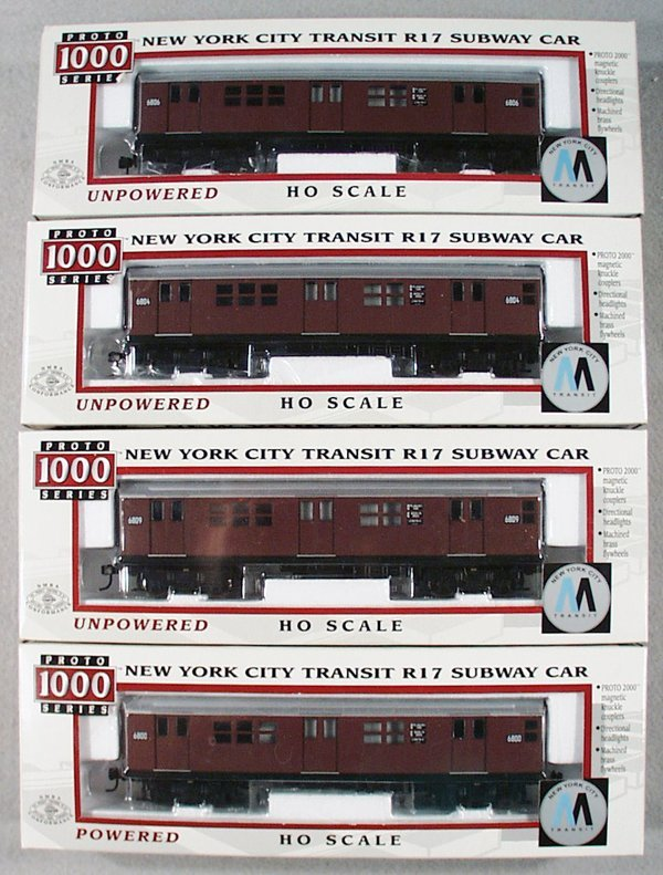 6: PROTO 1000 NYC R17 SUBWAY TRAIN