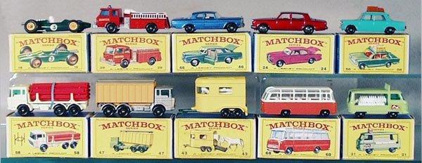 015A: 10 MATCHBOX VEHICLES