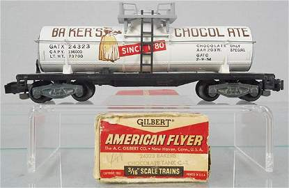 AMERICAN FLYER 24323 BAKERS CHOCOLATE TANK CAR