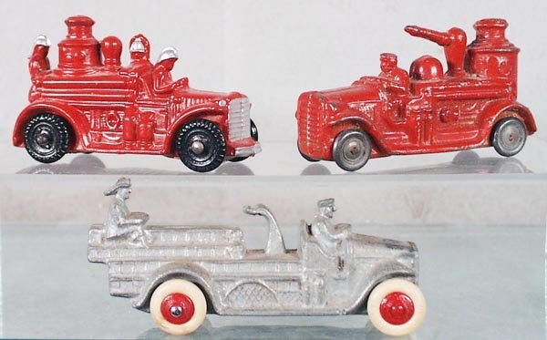 18: 3 BARCLAY FIRE TRUCKS