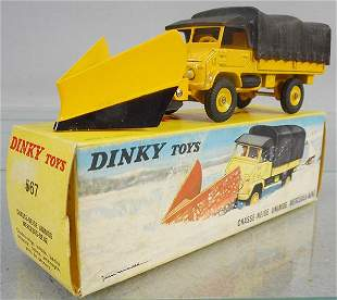 FRENCH DINKY 567 MERCEDES BENZ SNOW PLOW
