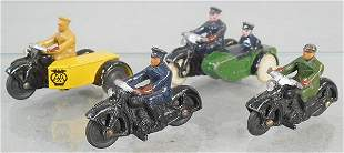 4 DINKY MOTORCYCLES