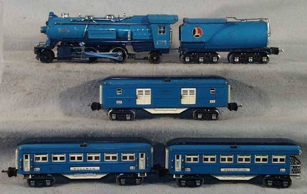 1011: LIONEL BLUE COMET TRAIN SET
