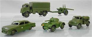 5 DINKY ARMY VEHICLES