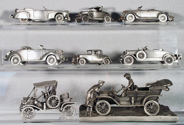 14: 8 PEWTER FORD MODELS
