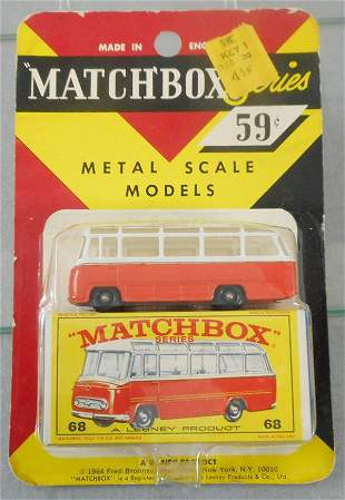 MATCHBOX 68B2 MERCEDES COACH BLISTER PACK