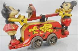 WELLS MICKEY & MINNIE MOUSE HANDCAR