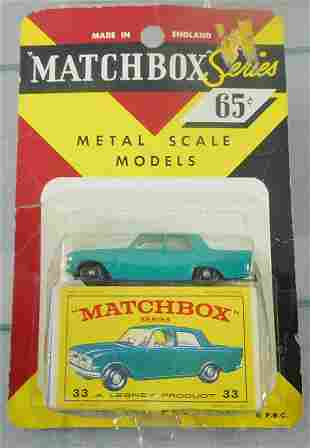 MATCHBOX 33B3 FORD ZEPHYR BLISTER PACK