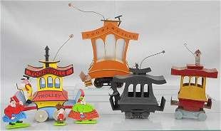 4 TOONERVILLE TROLLEY TOYS