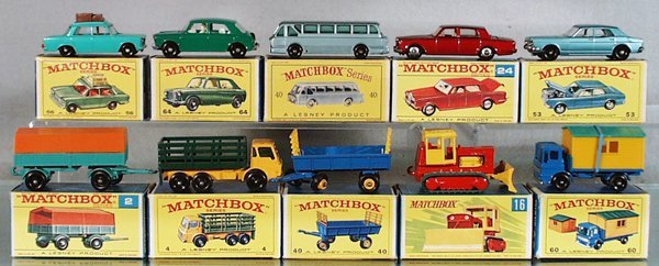 20: 10 MATCHBOX VEHICLES