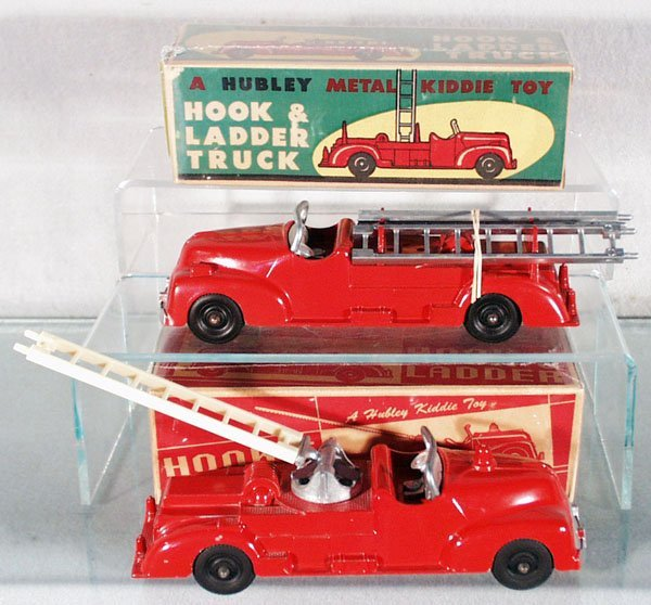9: 2 HUBLEY KIDDIE TOY FIRE ENGINES