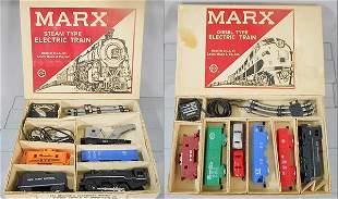 2 MARX TRAIN SETS