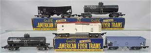 5 AMERICAN FLYER FREIGHT CARS