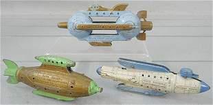 3 TOOTSIETOY BUCK ROGERS SPACE SHIPS