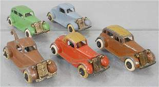 5 TOOTSIETOY 1934 FORDS