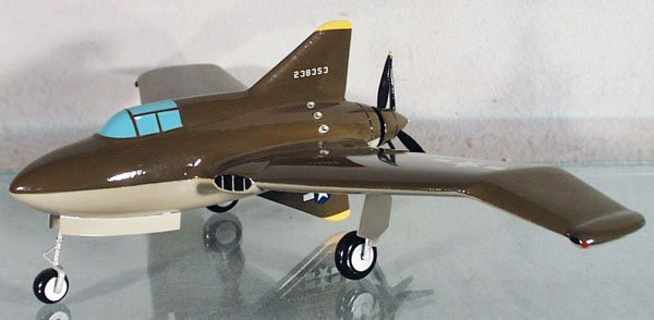 2: US ARMY NORTHROP XP-56 FIGHTER PLANE