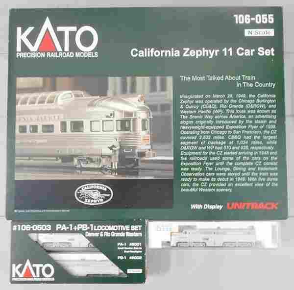 KATO CALIFORNIA ZEPHYR TRAIN SET
