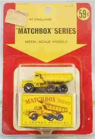 MATCHBOX 6C1 EUCLID QUARRY TRUCK BLISTER PACK