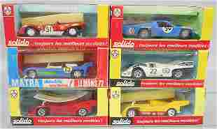 6 SOLIDO RACE CARS