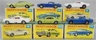 6 MATCHBOX VEHICLES