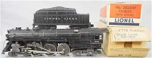LIONEL 773 HUDSON LOCO & TENDER