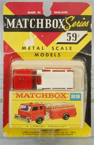 MATCHBOX 29C2 FIRE TRUCK BLISTER PACK
