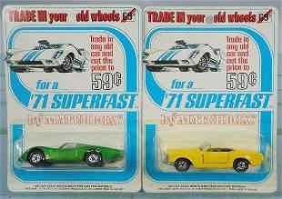 2 MATCHBOX SUPERFAST 1971 BLISTER PACKS